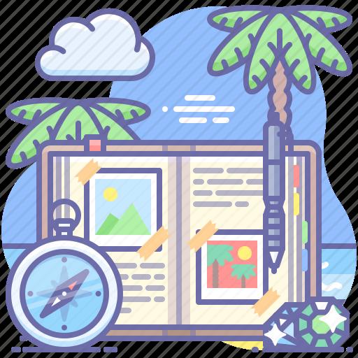 blog, journal, travel icon