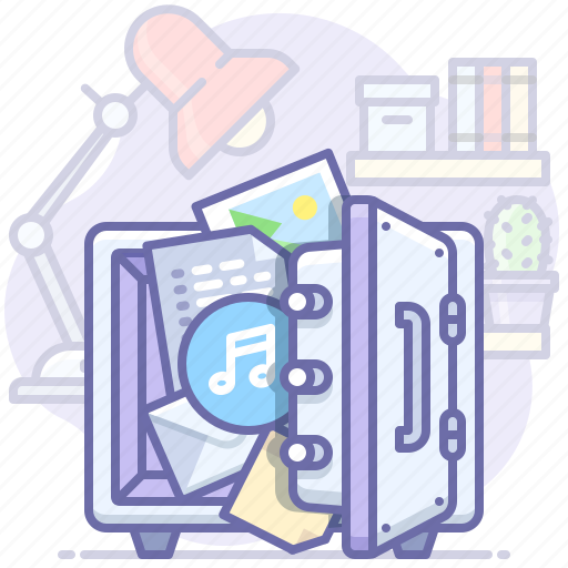 data, documents, files, safe icon