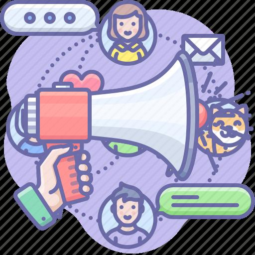 advertise, communication, megaphone icon