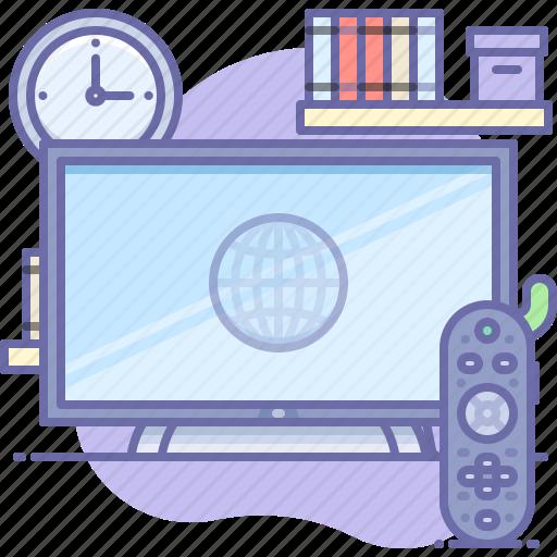 remote, smart, tv, watch icon