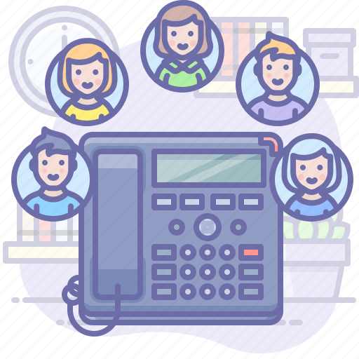call, group, phone icon