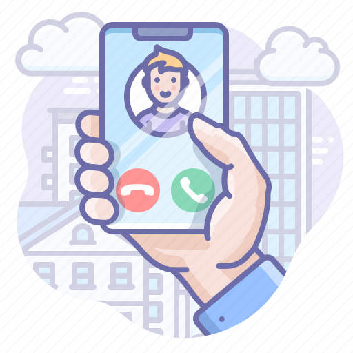 call, incoming, phone icon