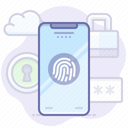 id, lock, phone, screen, touch icon