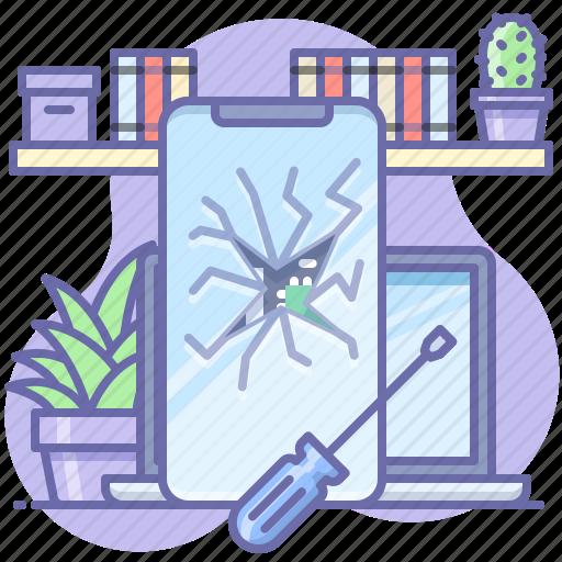 Broken, glass, smartphone icon - Download on Iconfinder