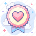 award, heart, love icon