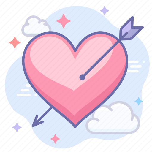 arrow, in love, valentine icon
