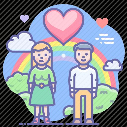 couple, girl, love icon