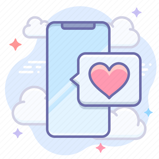 app, dating, mobile icon