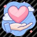 hand, love, valentine icon
