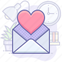 heart, valentine, envelope