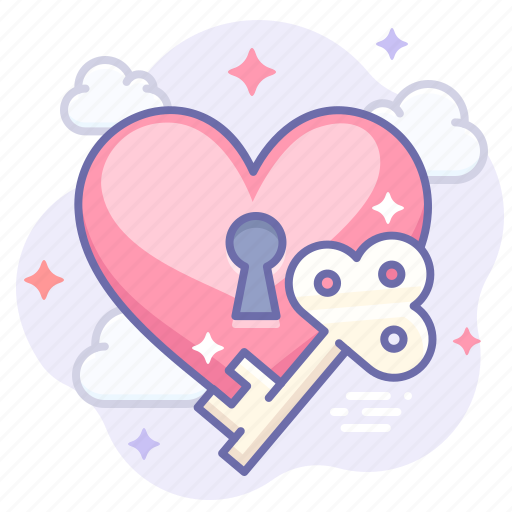 Key, love, valentine icon - Download on Iconfinder
