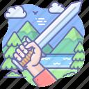 hand, sword, war icon