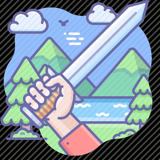 Hand, sword, war icon - Download on Iconfinder on Iconfinder