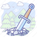excalibur, legend, sword icon