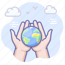 caring, earth, globe, planet, save icon