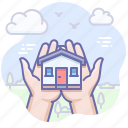 home, house, insurance, safe icon