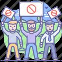 disagree, meeting, opposition, strike icon