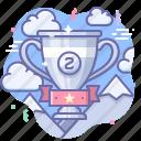 award, cup, silver icon