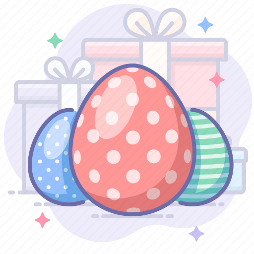 easter, eggs, holiday icon