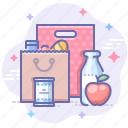bag, food, shopping icon
