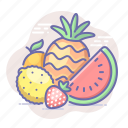 food, ananas, fruits