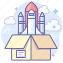 install, rocket, startup icon