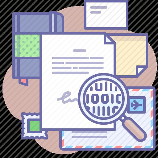 digital, document, signature icon