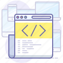 code, html, website icon