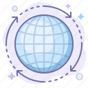 globe, internet, transfer icon