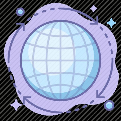 globe, internet, transfer icon