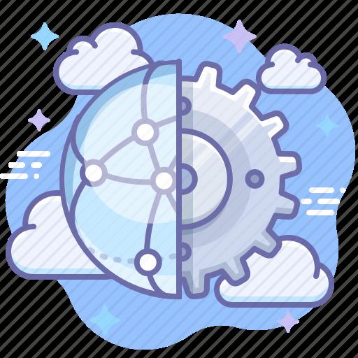 control, gear, network icon
