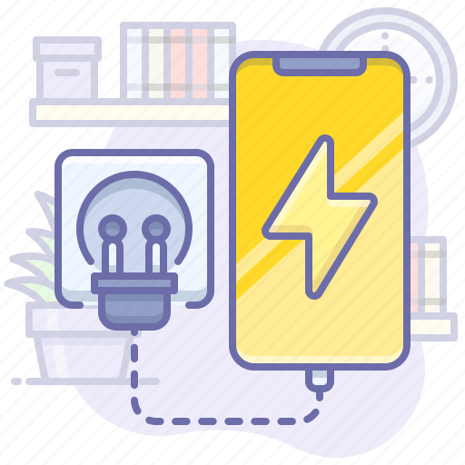 charge, charging, mobile icon