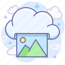 cloud, photo, print icon