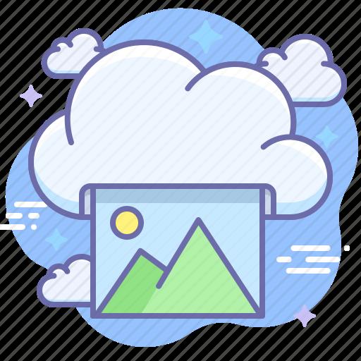 cloud, photo, print icon