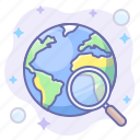lense, search, world icon