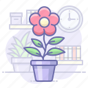 flower, home, pot icon