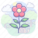 eco, flower, nature icon