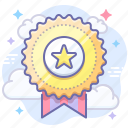achievement, award, badge icon
