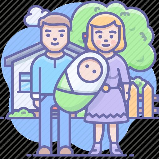 baby, family, parents icon