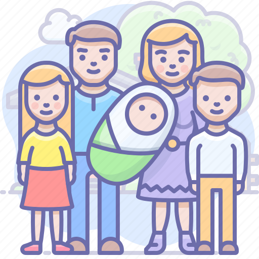 baby, children, family icon