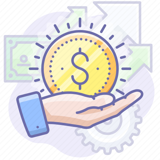 business, hand, money icon
