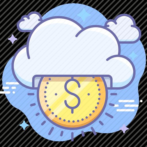 business, cloud, money, seo icon