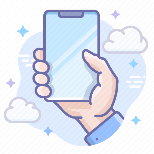 hand, hold, iphone icon