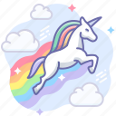 magic, rainbow, unicorn icon