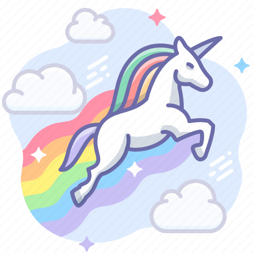 Magic, rainbow, unicorn icon
