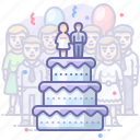 cake, party, wedding icon