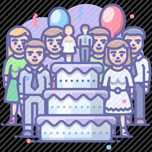 cake, party, wedding icon