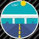 roadway, travel, cactus, flyover, highway, transportation, transport icon