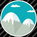 mountain, clouds, mount, snow, peak, scenery, summit