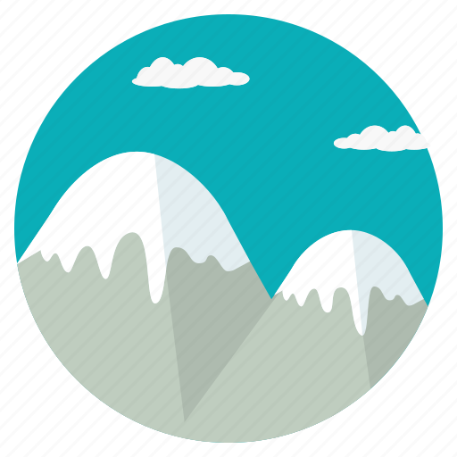 clouds, mount, mountain, peak, scenery, snow, summit icon